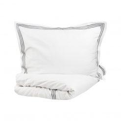 Ezüsttel hímzett pamutszatén ágyneműhuzat